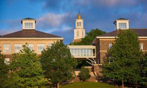Colgate campus with blue skies
